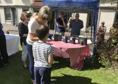 Junior Winner of Small Bakes Competition speaks with Ruth Langsford at Great Weybridge Cake-off