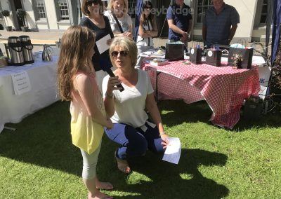 Junior winner of Family Bakes Competition with Ruth Langsford at Great Weybridge Cake-off