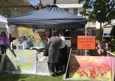 Lesley Blackburn Walton Artist Stall at Weybridge Market