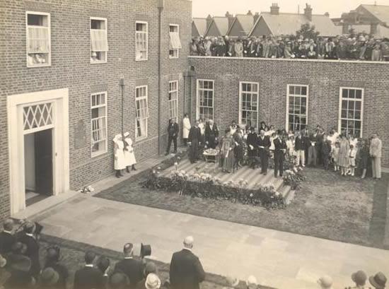 The opening of Weybridge Hospital