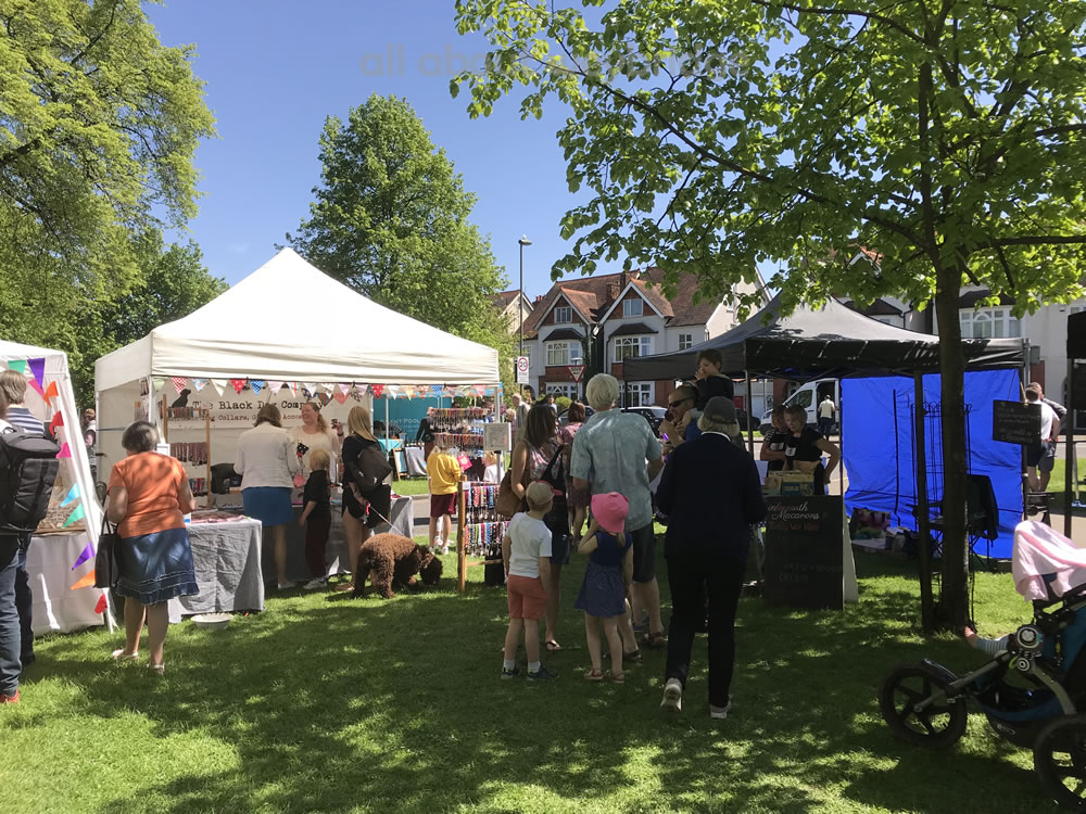 Public enjoy the Artisan Market at the Weybridge Bake-Off
