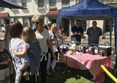 Ruth Langsford awards first prize in Celebration Cake Category at Weybridge Green Surrey Bake-off Competition
