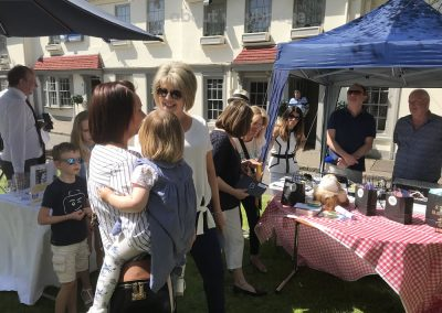 Ruth Langsford awards first prize in Celebration Cakes Category at Weybridge Green Surrey Bake-off Competition