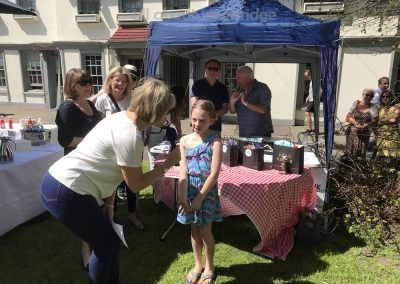 Ruth Langsford awards first prize in Celebration Cakes Competition Childrens Category at Weybridge Green Surrey Bake-off