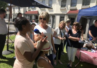 Ruth Langsford awards second prize in Adult Celebration Cakes Category at Weybridge Green Surrey Bake-off Competition