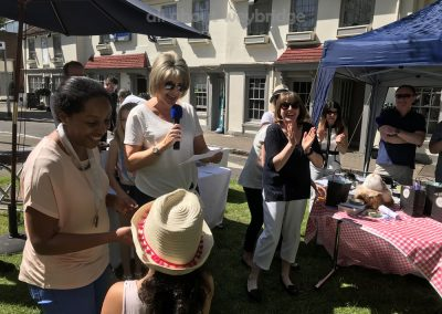 Ruth Langsford awards second prize in Celebration Cakes Competition at Weybridge Green Surrey Bake-off