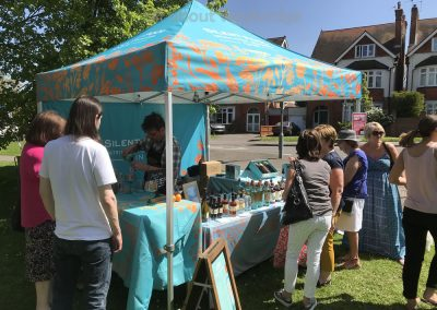 Silent Pool Gin Stall at Artisan Market Weybridge Surrey