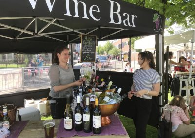 The Grape Outdoors - Wine Bar Molesey near Hampton Court Surrey comes to you - Stall at Weybridge Market