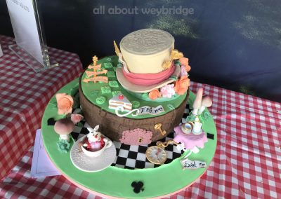 Winning Cake - Mad Hatters Tea Party Theme - Great Weybridge Cake Off 2018