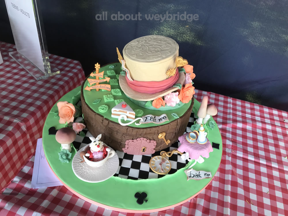 Winning Cake - Mad Hatters Tea Party Theme - Great Weybridge Cake Off 2018