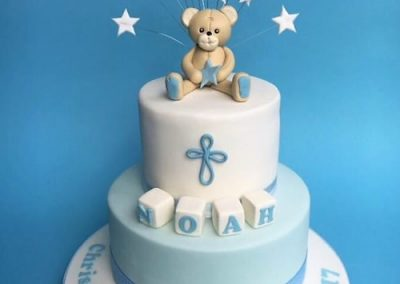 Christening Teddy Cake
