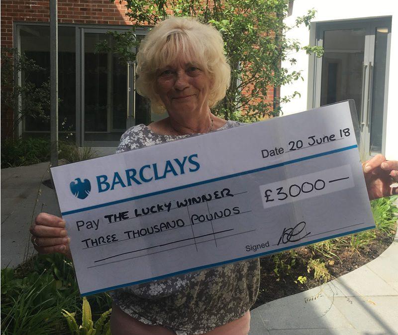 Woking & Sam Beare Hospices News – Birthday Raffle Winner Announced