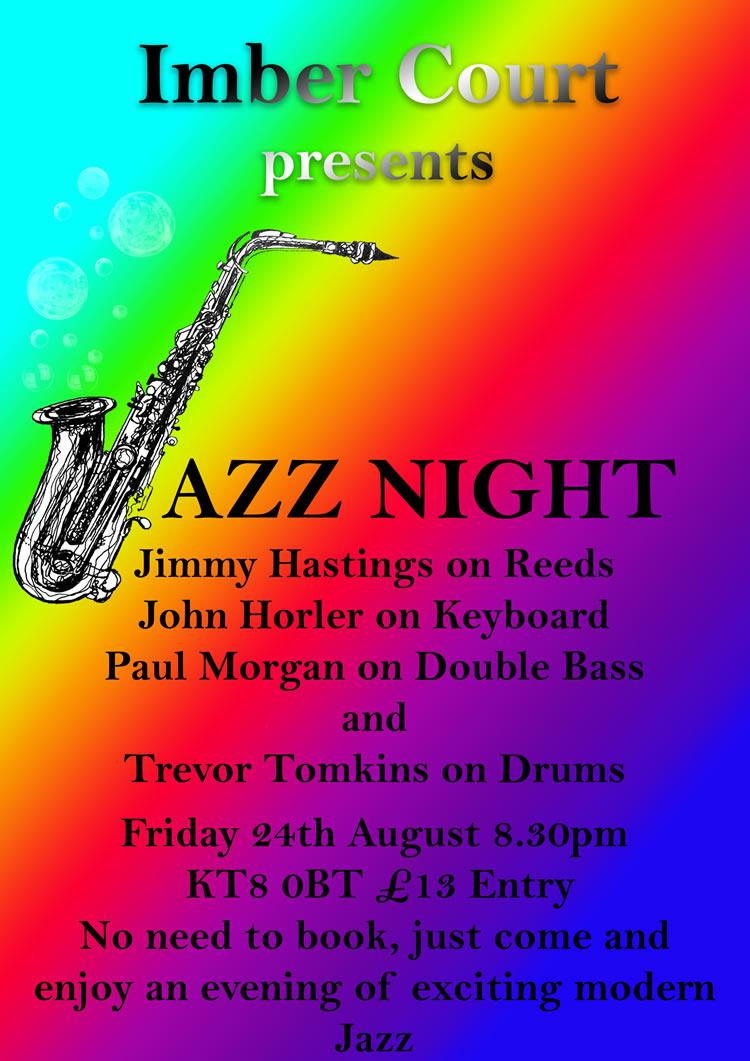 Jazz Club - August Gig at Imber Court East Molesey Surrey - Monthly Elmbridge Jazz Evenings