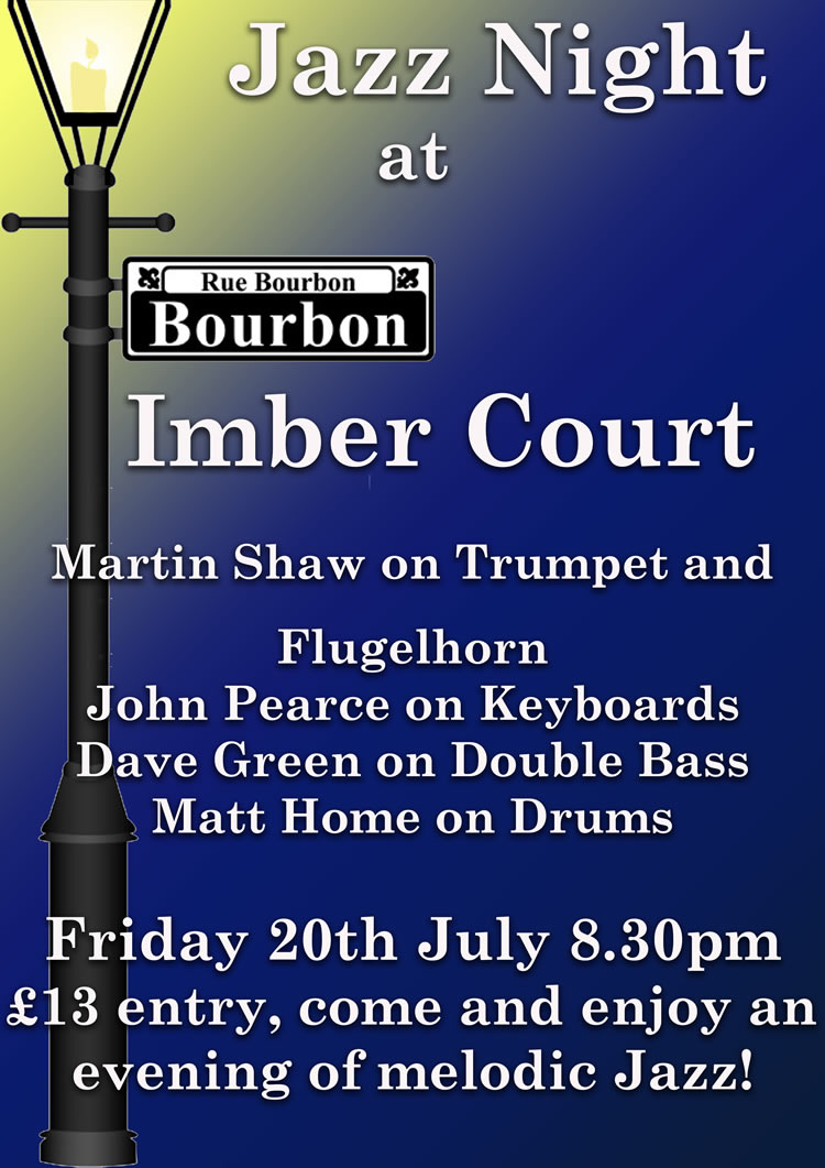 Jazz Club - Martin Shaw on Trumpet will be playing at Imber Court East Molesey Surrey - Monthly Elmbridge Jazz Evenings
