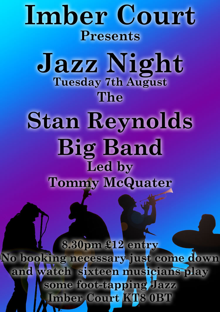 Stan Reynolds Big Band Concert at Imber Court East Molesey Surrey - Monthly Elmbridge Jazz Evenings