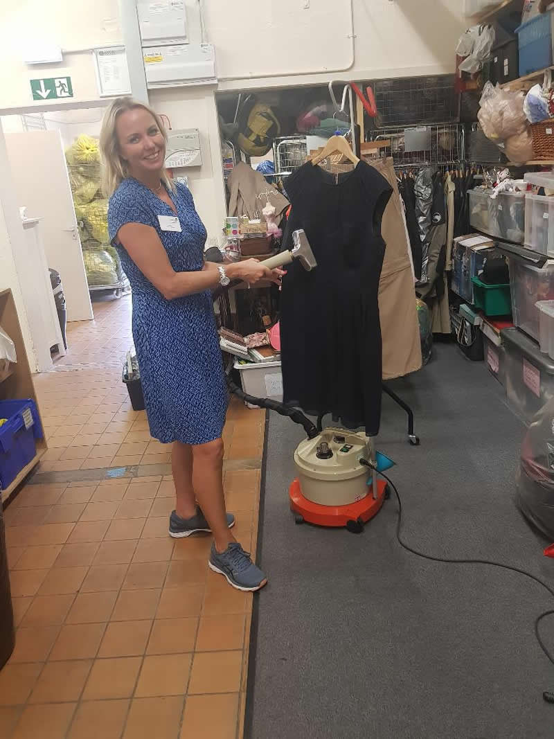Natalie Volunteer Princess Alice Hospice Charity Shop Weybridge