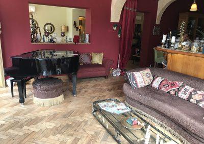 Z Dining Room with Grand Piano at Meejana Restaurant Weybridge Surrey