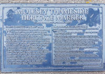 Molesey Thameside Heritage Marker
