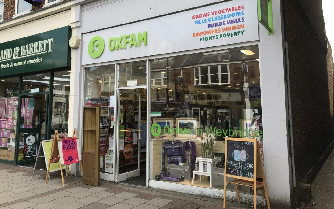 Request For Volunteers at Oxfam's Weybridge & Other Charity Shops