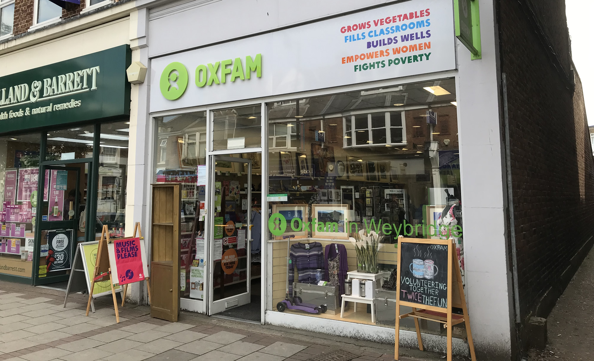 Oxfam Charity Shop Weybridge Surrey