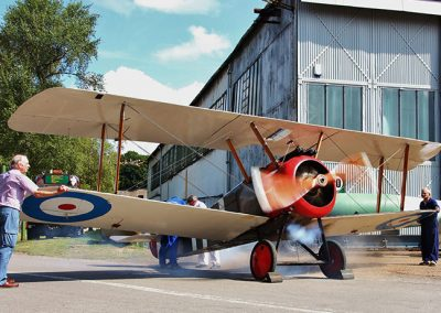 Sopwith_Camel_engine_run