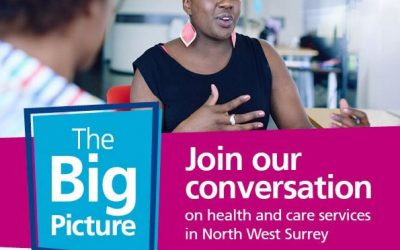 The Big Picture – NHS NW Surrey Drop-In Exhibition / Consultation In Weybridge