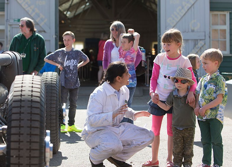 Brooklands Museum Volunteers - Public Visitors include Families with Young Children