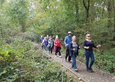 Elmbridge Healthy Nordic Walk from Garsons Farm Esher
