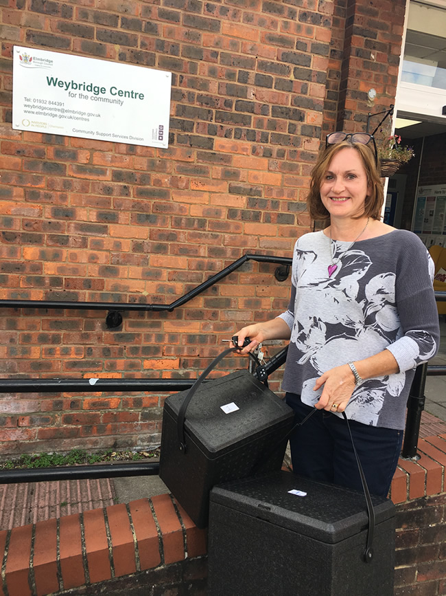 Liz Farmer : Meals on Wheels volunteer at The Weybridge Centre for the Community