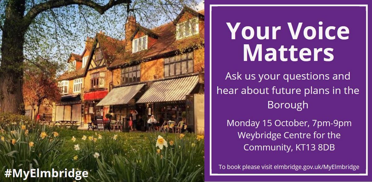 My Elmbridge - Your Voice Matters Events