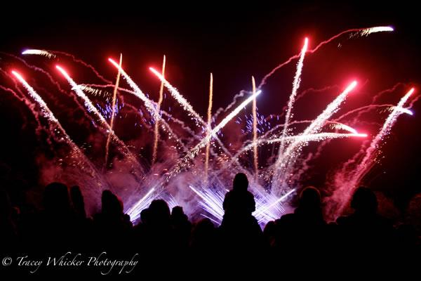 Weybridge Fireworks Display at Cleves School Oatlands near Walton