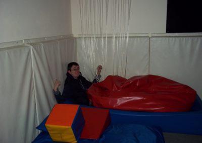 Ali in sensory room