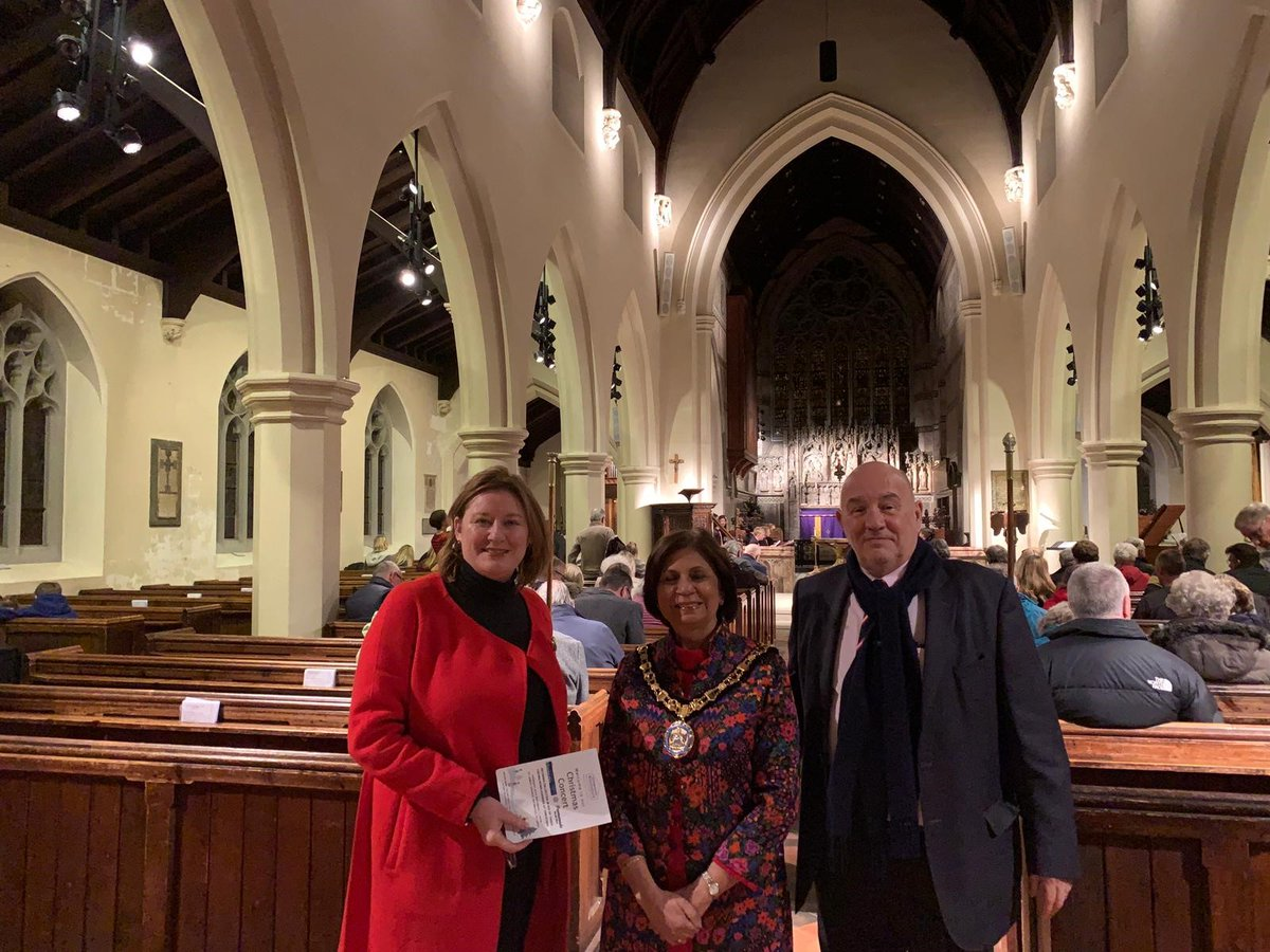 Elmbridge Rentstart Christmas Carol Concert with Mayor at St James Church Weybridge Surrey