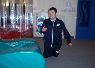 James in Sensory Room 2