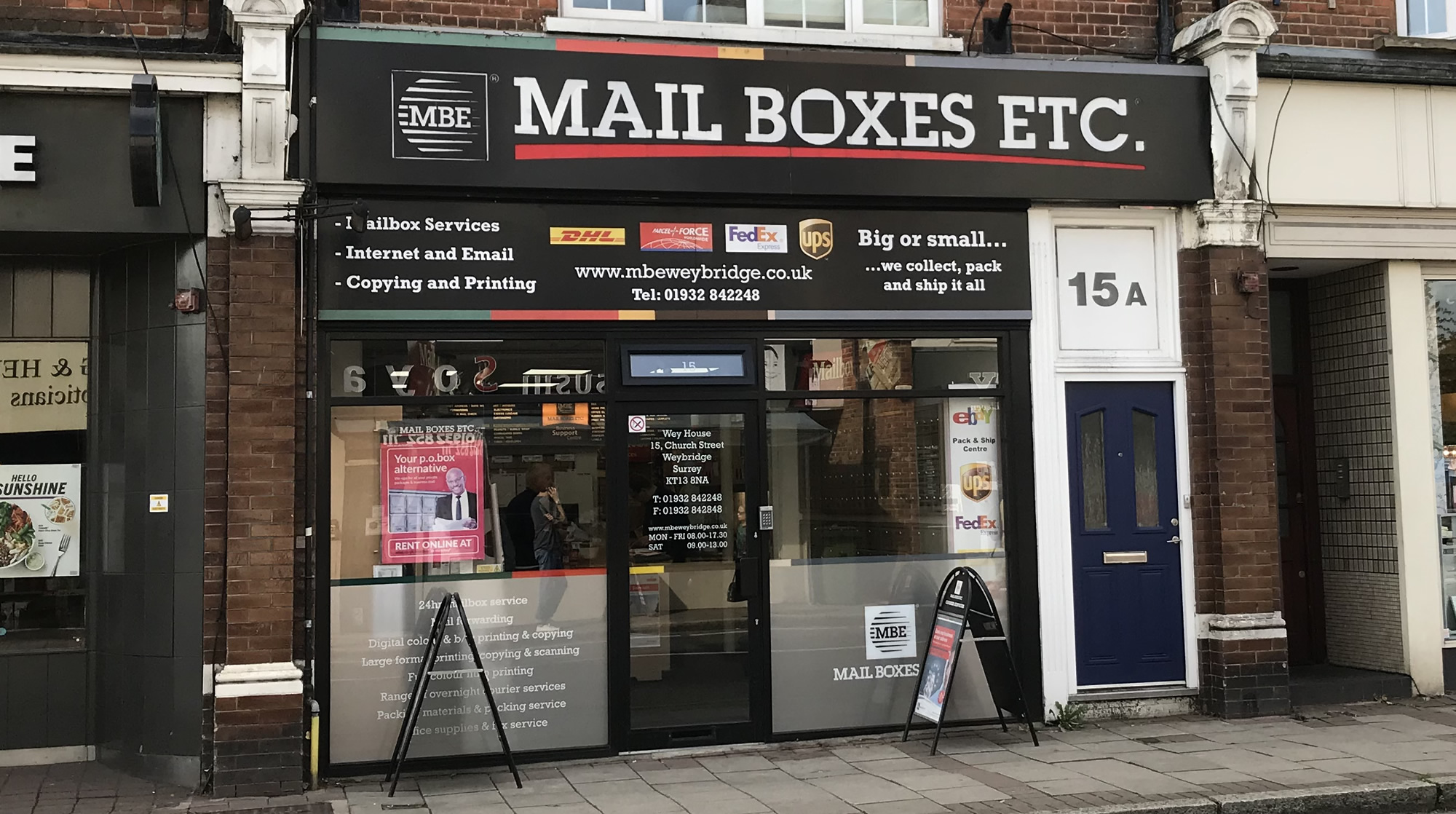 Mail Boxes Etc Church Street Weybridge Surrey