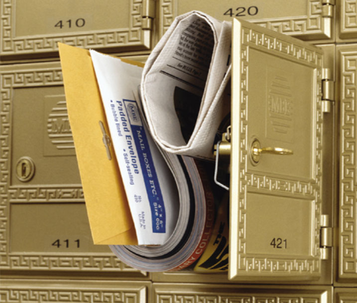 Rent a mailbox online fast – choose for business or personal requirements and select the additional services you need