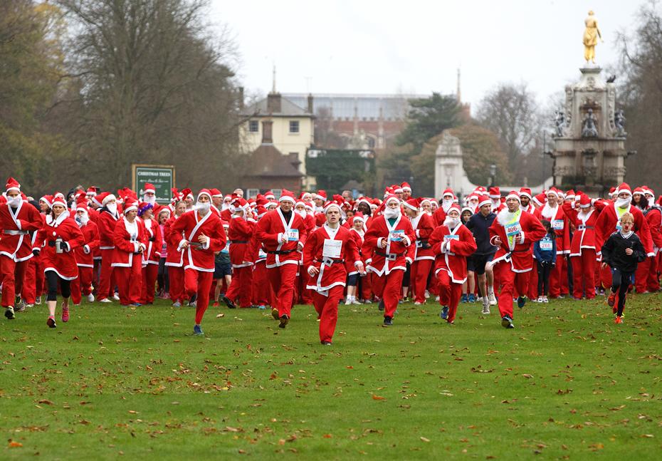 Santa Fun Run Princess Alice Hospice