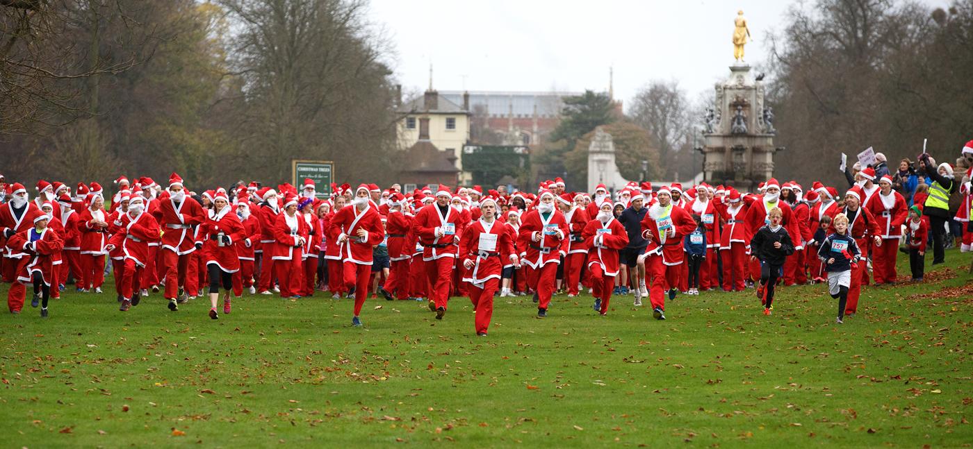 Santa Fun Runs for Princess Alice Hospice at Cobham, Hampton Court & Richmond