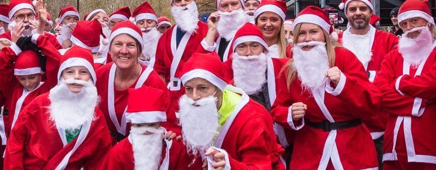 Walton Santa Fun Run at Elmbridge Xcel For Woking & Sam Beare Hospices