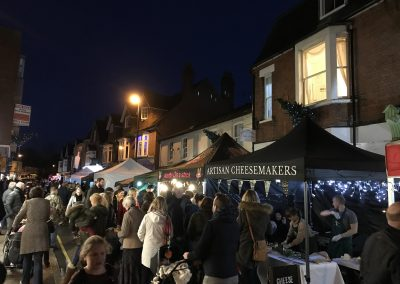 Baker Street Weybridge Christmas Market - Cheese Stall