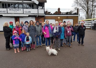 Boxing Day Healthy Walk Group photo - at Molesey Boat Club