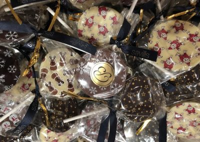 Chocolate lollipops for every child sponsored by Bachmanns Weybridge and Savills Weybridge