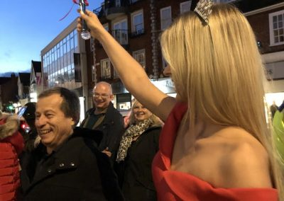 Miss Surrey in Weybridge turns on Christmas lights