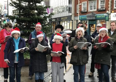 St James' Church Choir at Weybridge Christmas Market