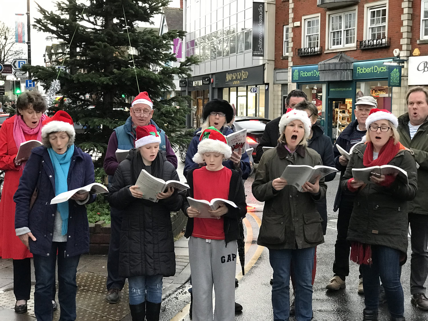 St James Church Choir singing at Weybridge Christmas Market