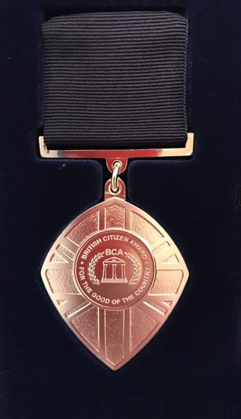 British Citizen Award Medal