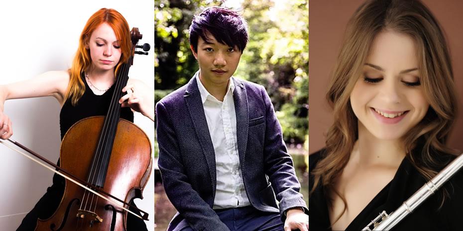 Ruth Harrison flute, Sophie Haynes cello & Raymond Wui-Man Yiu piano - Cadran Trio Concert in Esher Surrey