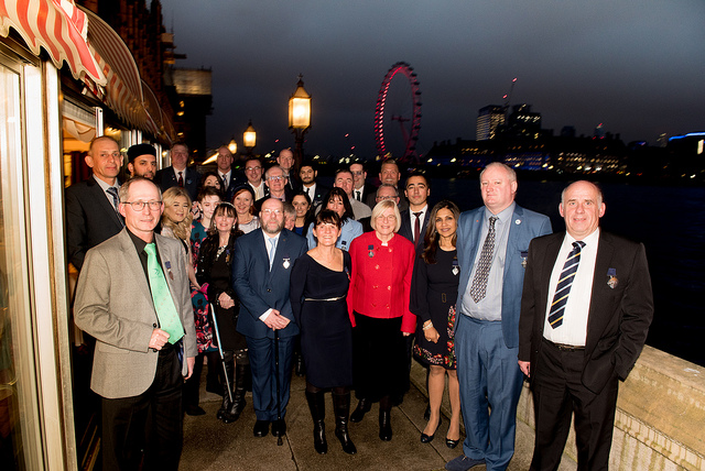 Medalist Group Shot - Terrace, House of Lords