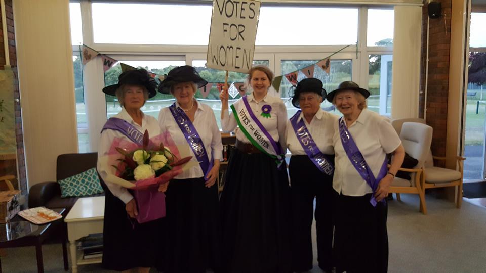 Suffragette Costumes worn by Weybridge Womens Institute Members
