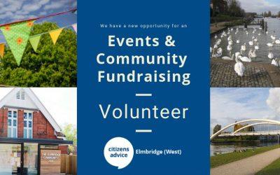 Events & Community Fundraising Volunteer Opportunity – Citizens Advice Elmbridge